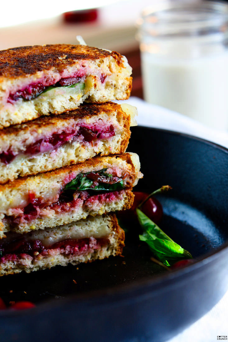 Cherry, Basil Provolone Gluten Free Grilled Cheese