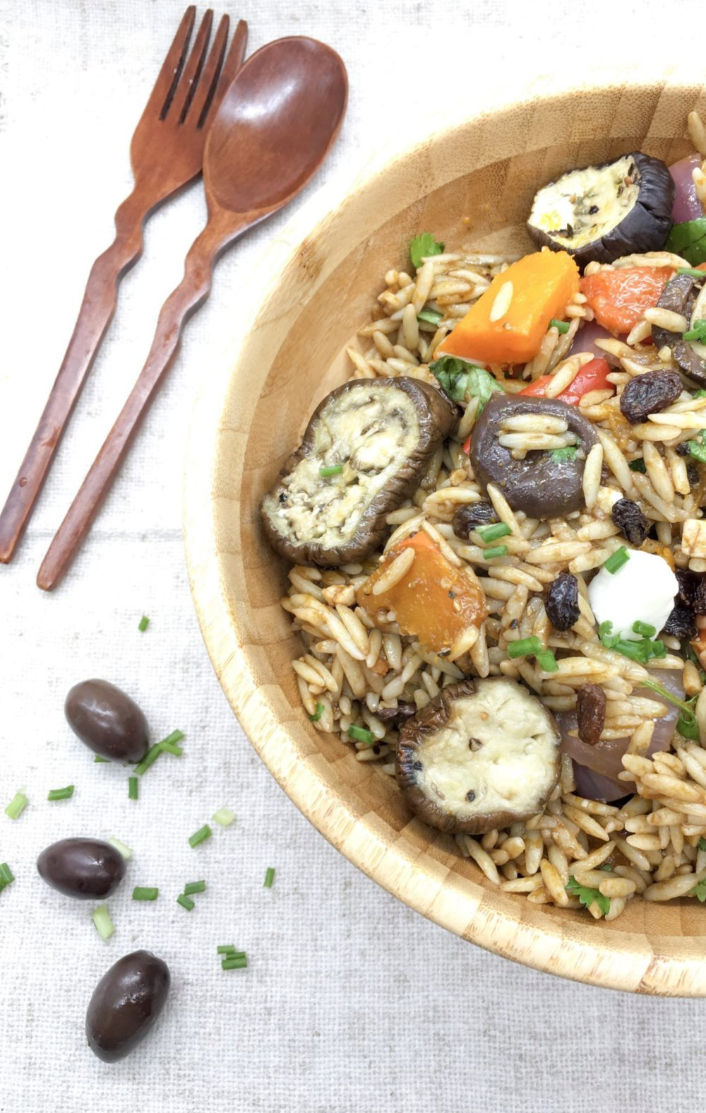 Roasted Vegetables and Orzo Salad
