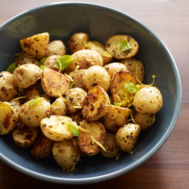 Roasted Baby Potatoes with Oregano and Lemon