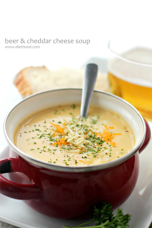 Beer Cheddar Cheese Soup + Blendtec Giveaway