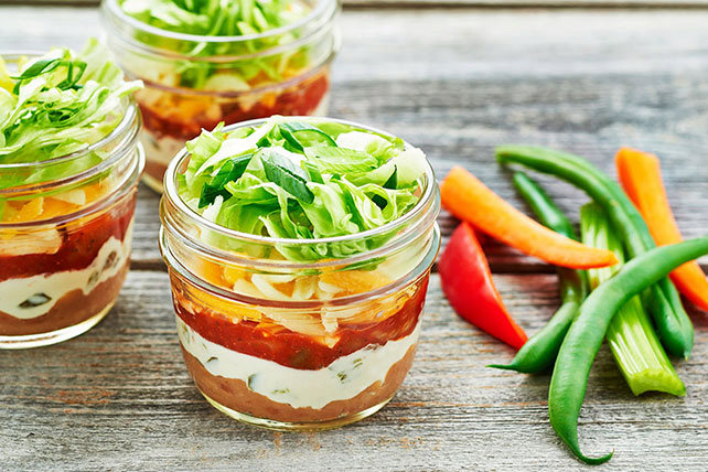 Little Layered Mexican Dip Appetizers