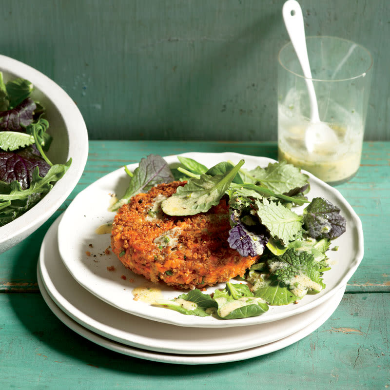 Salmon Cakes with Dijon-Herb Sauce