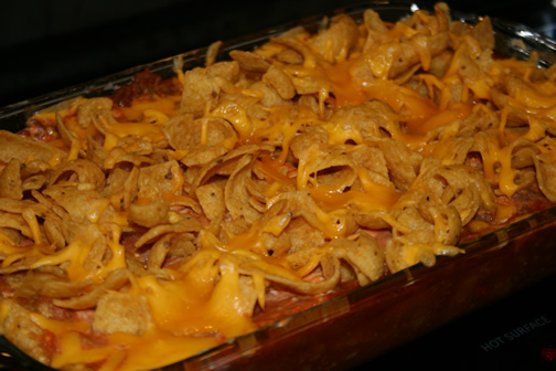 Oven-Baked Frito Pie - Camping