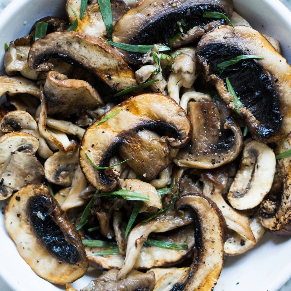 Lemon & Tarragon Grilled Mushrooms