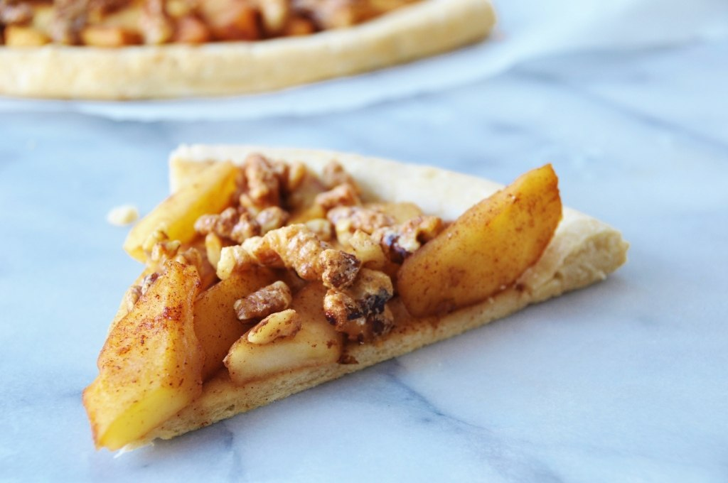 Apple Pie with Candied Walnut Pizza