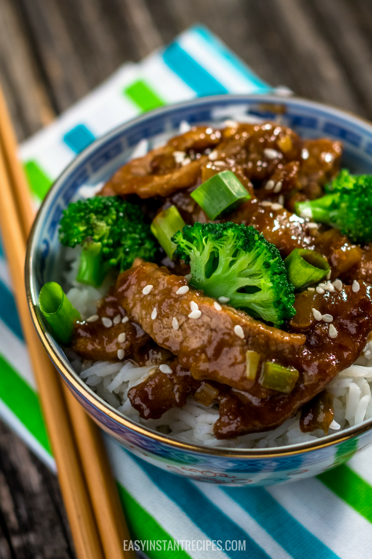 Instant Pot Mongolian Beef and Broccoli